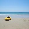 無人島でボート