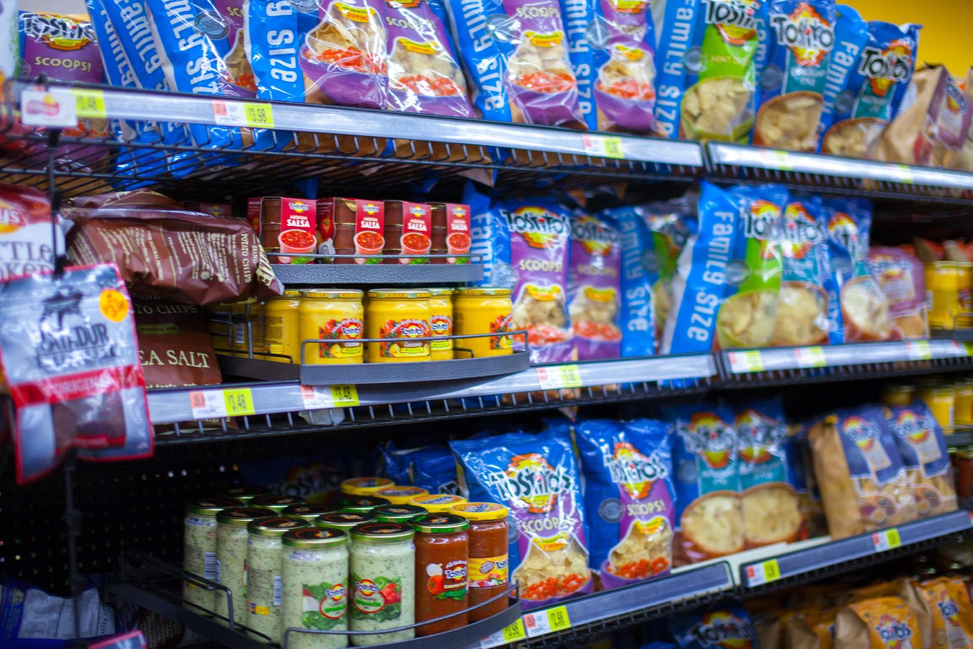 スーパーのお菓子売り場